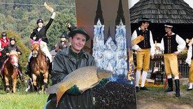 25 tipů na víkend: Festival světel, výlov Rožmberka i Hubertovy jízdy
