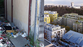 Bezdomovci okupují starý dům u Parukářky. Dokud nepadne k zemi, nic se nezmění