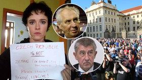 """Protesty """"Proč? Proto!"""" jsou zpět. Šárka chce před volbami varovat před Zemanem a Babišem"""