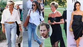 Harryho Meghan je kopií Diany: Miluje stejné oblečení, sport a věnuje se charitě