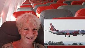 Žena (57) si užila soukromý let za cenu běžné letenky: Celé letadlo měla jen pro sebe!