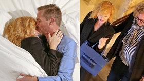 Rozjetá Geislerová s cizím mužem v posteli: Polibky, šampíčko, pak ji táhli domů!