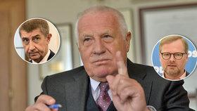 Klaus zmínil velkou koblihu od Babiše a kárá ODS. Připomněl jí opoziční smlouvu