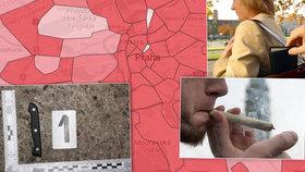 Mapa kriminality odhalila nejnebezpečnější místa v Praze: Tady je deset z nich