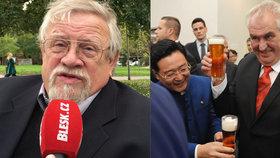 """Zeman se kvůli pití změnil, říká chartista Kroupa. Zhodnotil i """"pakt"""" s Babišem"""
