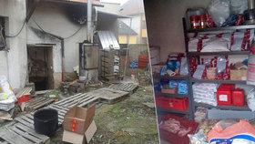 Špína a kádě plné krve: Tak vypadalo nelegální řeznictví na Hodonínsku