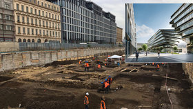 Největší vykopávky za poslední dobu probíhají  u Masaryčky: Archeologové kutají na pozemku, kde vyroste nová čtvrť
