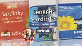 Sardinky z konzervy na jazyku spotřebitelů: Nevýrazné, tužší a nahořklé