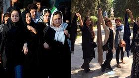 Vzpoura muslimek: Sundaly si šátky a čekaly, co bude. Hrozily jim facky