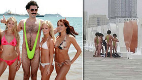 Češi se v Kazachstánu fotili v plavkách z Borata. Doplatili na to