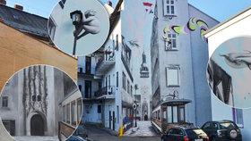 Na oprýskanou fasádu si v Brně namalovali radnici: Vypadá líp než ta pravá!