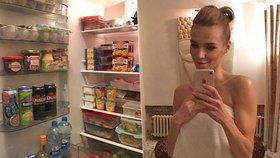 Moderátorka Snídaně Mašlíková otevřela svou lednici: Jsme prostě prasátka, přiznává Hanka