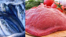 V nelegálním skladu v Praze 6 leželo 2,6 tuny ryb a hovězího: Provozovateli hrozí milionová pokuta