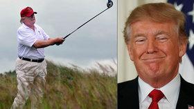 Trump sliboval o svátcích tvrdou dřinu, raději ale vyrazil na golf. Obamu za to kritizoval