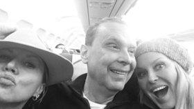 Krainová v letadle z Paříže: Party s Margitou a sestrou Yvonou
