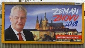 "Zemanova ""nekampaň"" stála už 17 milionů korun. Drahoš dostal darem 34 milionů"