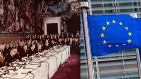 """Tutlané tajemství a obří trapas s uklízečkami: Tak před 60 lety vznikal """"dědeček"""" EU"""