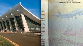 """""""Probudili jsme se jako Američané."""" Tchaj-wan vydal pasy s obrázkem letiště v USA"""