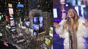 Mrazivý Silvestr v New Yorku: V -12 °C prosila o čaj i Mariah Carey