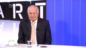 Přímá volba prezidenta je chyba, zopakoval Klaus. Na Hradě prý nemá sedět Marťan