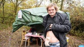 Bezdomovec Václav (47): Kvůli vývodu ho nechtějí na ubytovně, on by si ji přitom rád platil