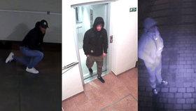 Vloupání na Proseku: Muž kradl v garážích, po něm přišli další dva mladíci. Poznáte ho?