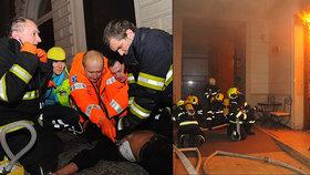 Mohutný požár hotelu v centru Prahy má čtvrtou oběť! Zemřeli mladí lidé z Německa a Jižní Koreje