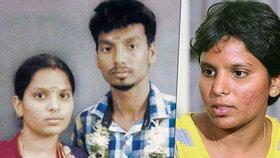 Indka se soudí s rodinou. Rodiče nechali zabít jejího muže, byl z jiné kasty