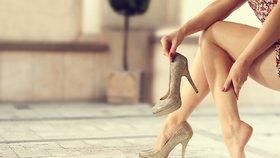 Krásné boty mohou způsobit i velkou bolest.
