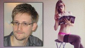 Snowden žije ve svém ruském exilu se sexy přítelkyní.