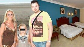 Petr K. s rodinou na dovolené a pokoj smrti