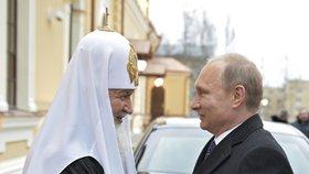 Vladimir Putin se sešel s hlavou ruské pravoslavné církve patriarchou Kirillem.