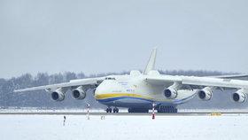 Největší letoun světa Antonov An-225 Mrija