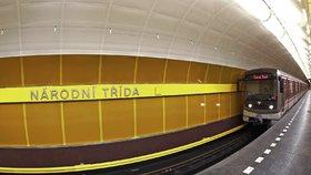 zastávka pražského metra Národní třída