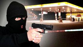 Lupič na Přerovsku přepadl benzinku: Prodavači pohrozil pistolí a pak zmizel ve tmě