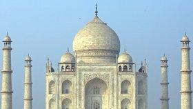 Tádž Mahál v Indii.