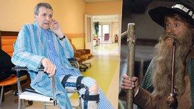 Slavný Krakonoš František Peterka už byl zase hospitalizován. Kvůli infekci na plicích.