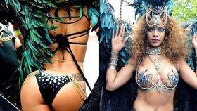 Rihanna na festivalu v rodném Barbadosu. Zpěvačka oblékla odvážný obleček.