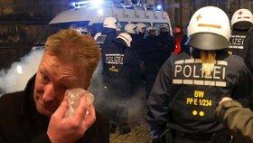 Demonstrace Pegidy v Německu se neobešla bez nepokojů. Poslanec Černoch dostal prý dlažební kostkou.