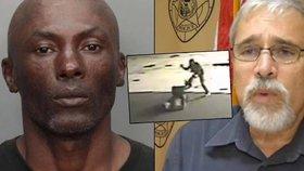 Brutální video: Strážník chtěl zastavit šíleného žháře, ten do něj začal bodat hlava nehlava