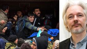 Assange zveřejnil tajné plány EU. O vojenské operaci kvůli uprchlíkům