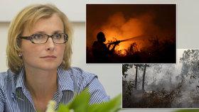 Kateřinu Konečnou naštvala situace kolem požárů v Indonésii a palmového oleje.