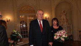 Prezident Miloš Zeman s manželkou Ivanou