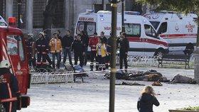 Nejméně osm mrtvých si vyžádala exploze v historickém centru Istanbulu.