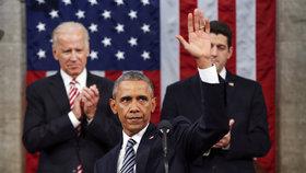 Americký prezident Barack Obama mluvil o válce proti terorismu i americké politice.