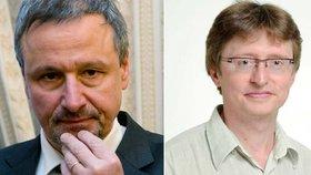 Petr Šafařík (vpravo) se z mimořádného jednání na poslední chvíli omluvil. Naštval tím předsedu výboru Martina Komárka (ANO).