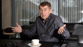 Andrej Babiš při rozhovoru pro Blesk