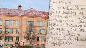 V této škole mělo docházet k šikaně, zoufalé děti napsaly ředitelce dopis.