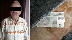 Antonín (80) ze Zlína přišel o 260 000 Kč. Měl je doma pod kobercem