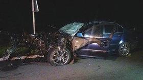 Nehodu zavinila 27letá řidička BMW, která jela v protisměru.